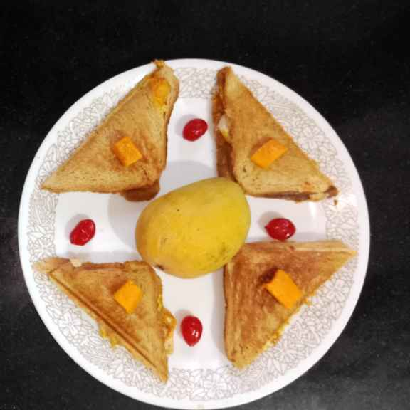 How to make Mango paneer grilled sandwich