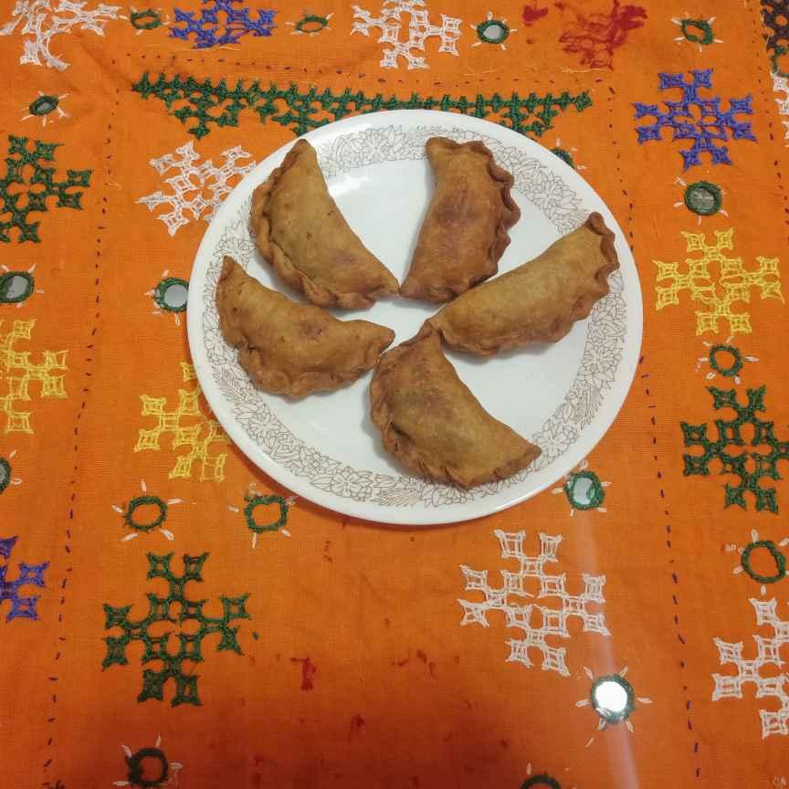 Photo of Kaju mutter karanji/gujjiya by Rash amol at BetterButter
