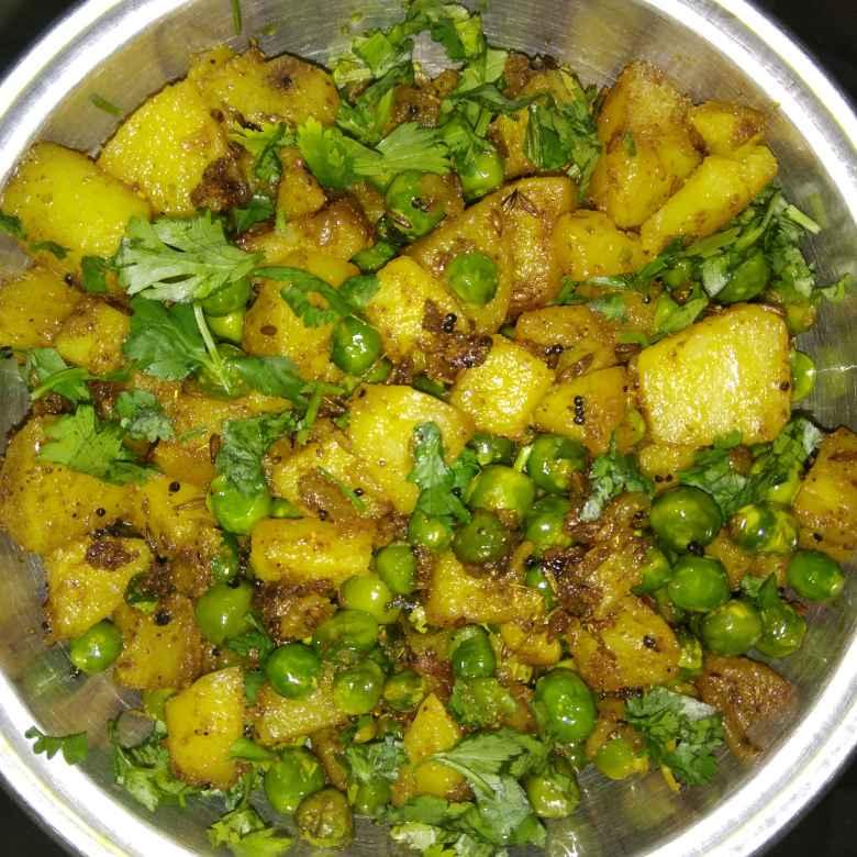 How to make आलू मटर की सब्जी