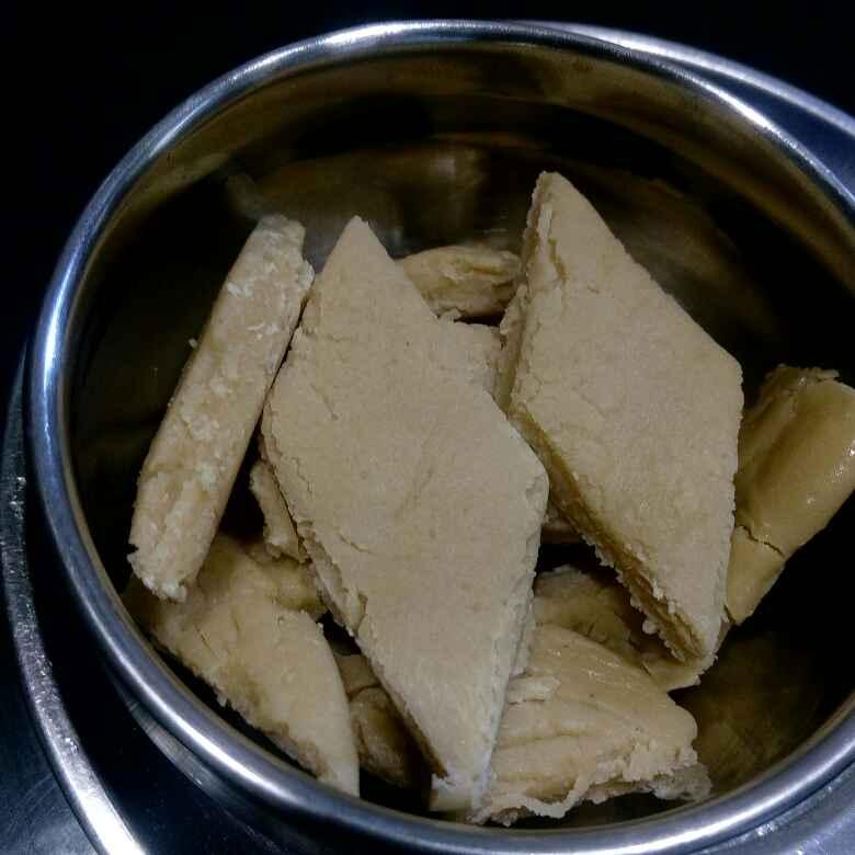 How to make మైదా పాలపుడి వెనిల బర్ఫీ