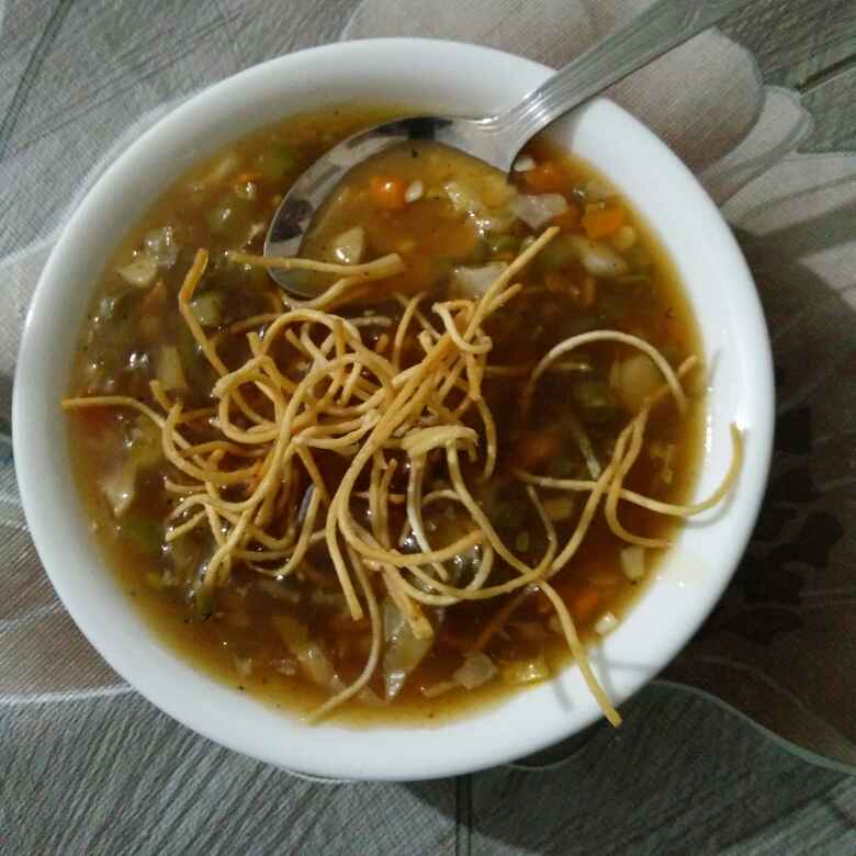 Photo of Veg manchow soup by Reena Andavarapu at BetterButter