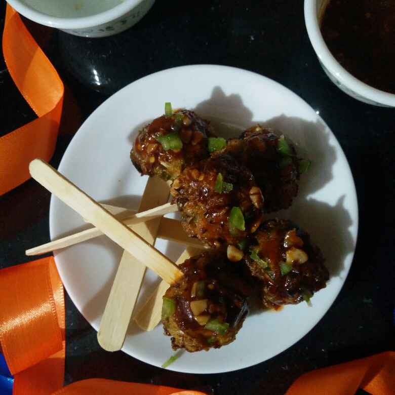 Photo of Manchuria pops with dipping sauce by Reena Andavarapu at BetterButter
