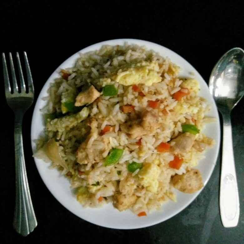 How to make चिकन फ्राइड राइस