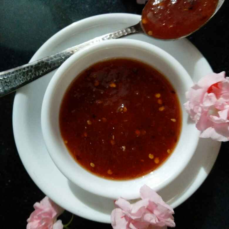 Photo of Sweet n spicy tomto jam by Reena Andavarapu at BetterButter