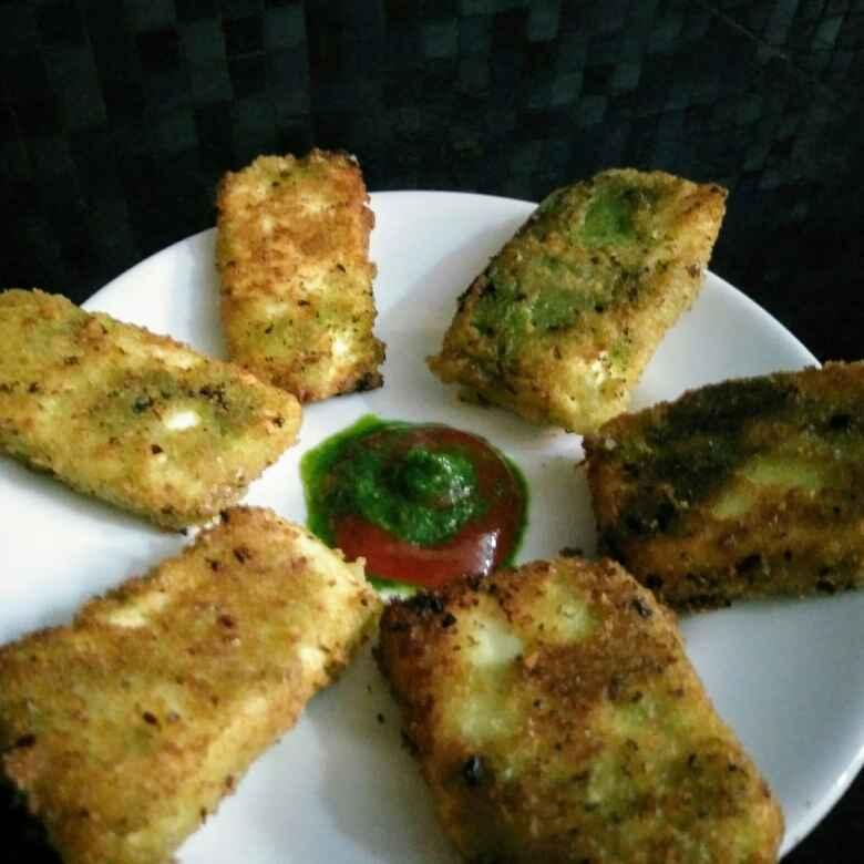 How to make Green chutney paneer nuggets