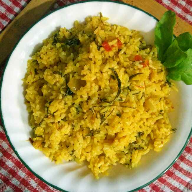 How to make Baby spinach pulav