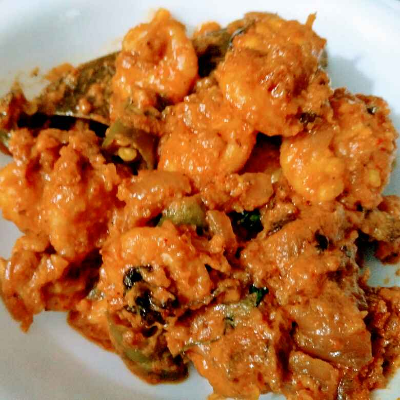 Photo of Malai jinga masala (bina malai ke) by Reena Andavarapu at BetterButter