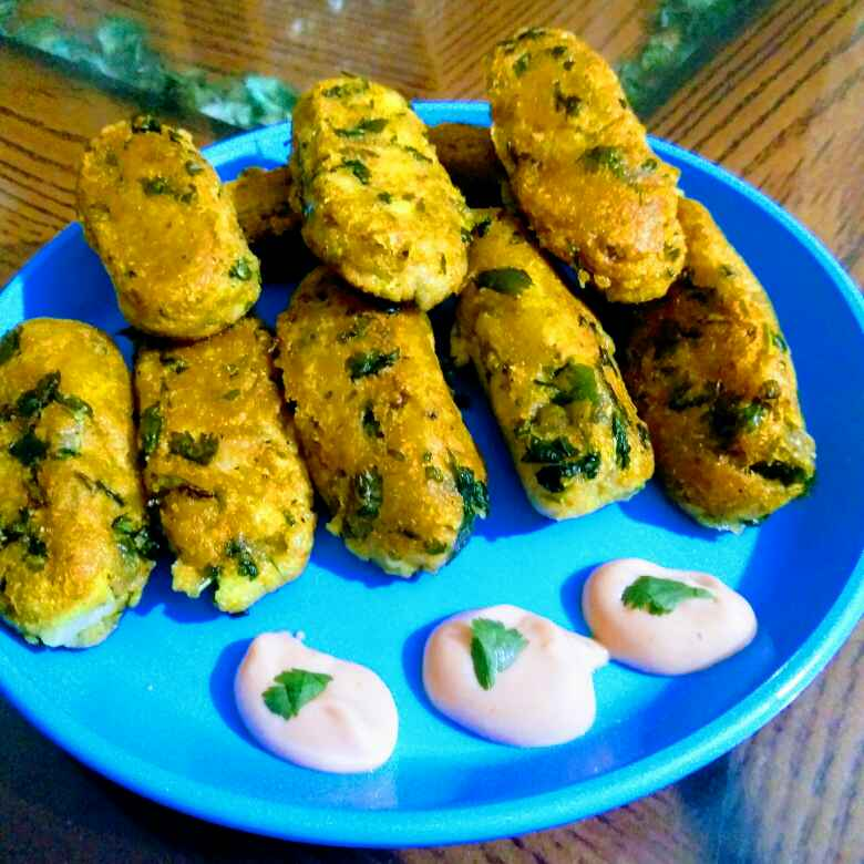 Photo of Sooji potatoe croquettes by Reena Andavarapu at BetterButter