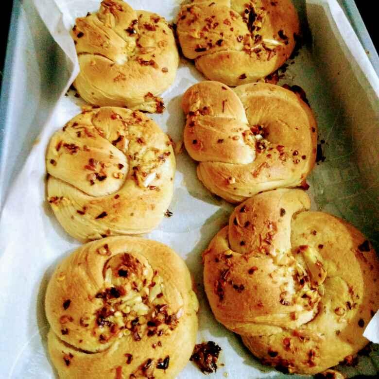 Photo of Garlic knots by Reena Andavarapu at BetterButter