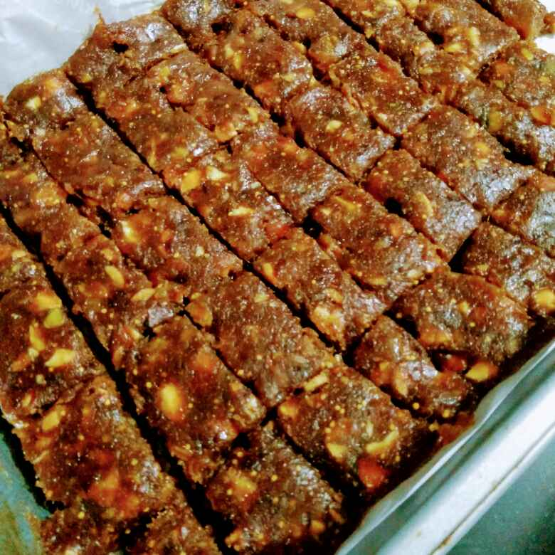 Photo of Dates figs and nuts barfi by Reena Andavarapu at BetterButter