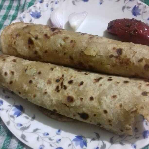 Photo of Aaloo paratha from leftover jira aaloo by Reena Verbey at BetterButter