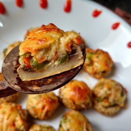 How to make Stuffed cheesy mushroom