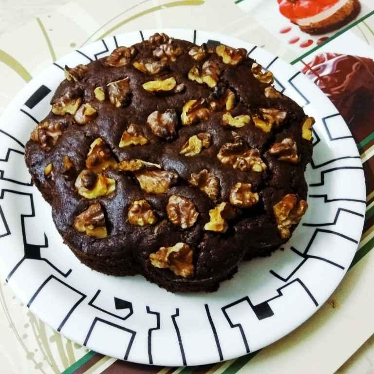 How to make Maize Walnut Chocolate Cake