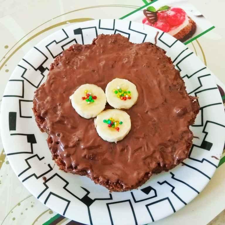 How to make Banana Singhara Cake