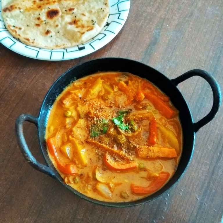 How to make Veg Kadai