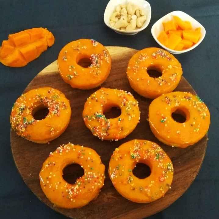 How to make Baked Mango Donuts with Mango Glaze