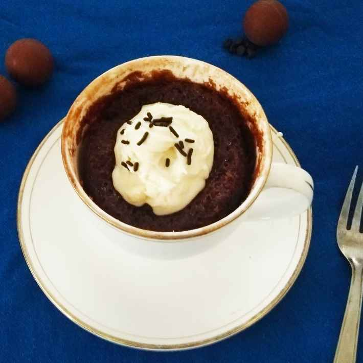 Photo of 3 Ingredients Mug Chocolate Cake by Rekha Unni at BetterButter