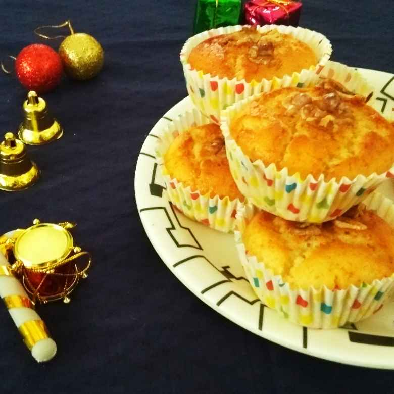Photo of Walnut Bread Cupcakes - Eggless by Rekha Unni at BetterButter