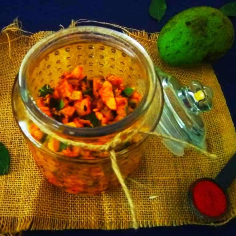 Photo of Kerala Style Instant Raw Mango Pickle by Rekha Unni at BetterButter