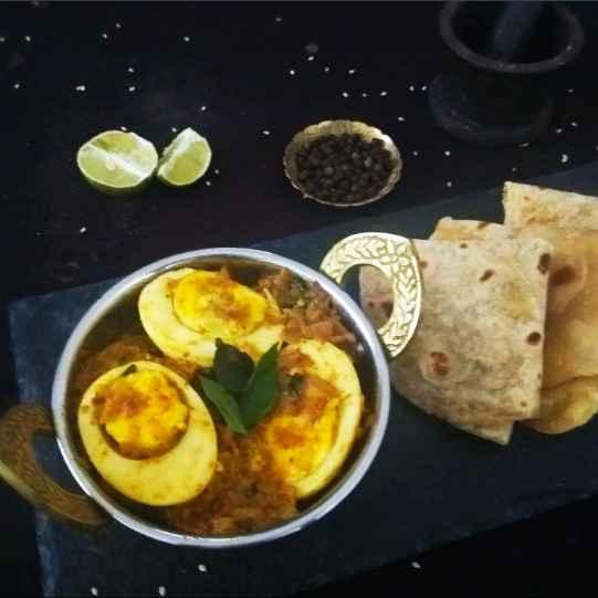 How to make Egg Pepper masala