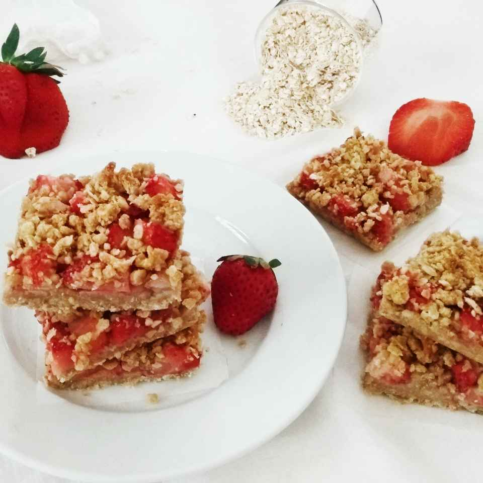 Photo of Healthy Strawberry Oats Bars by Rekha Unni at BetterButter