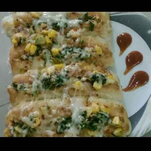 Photo of Cheese corn garlic bread by Rekha Varsani at BetterButter