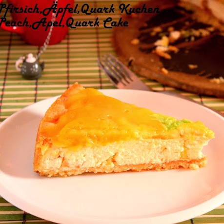 Photo of Pfirsich, Äpfel & Quark Kuchen - Peach, Apple & Quark Cake by Reni Miller at BetterButter