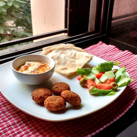Falafel With Hummus And Pita Bread Recipe By Renica Rego At Betterbutter