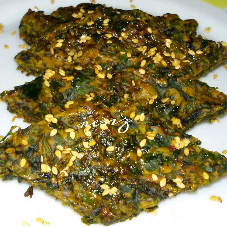 How to make Spinach fritters/ palak vadi