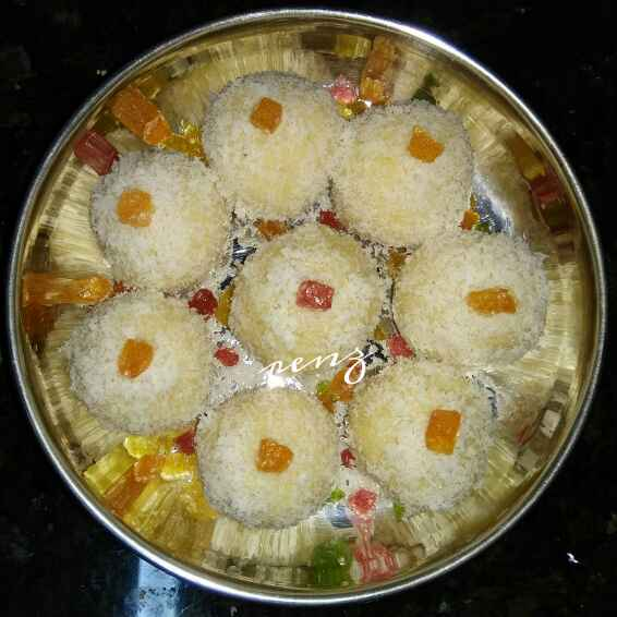 How to make Instant Coconut Laddu