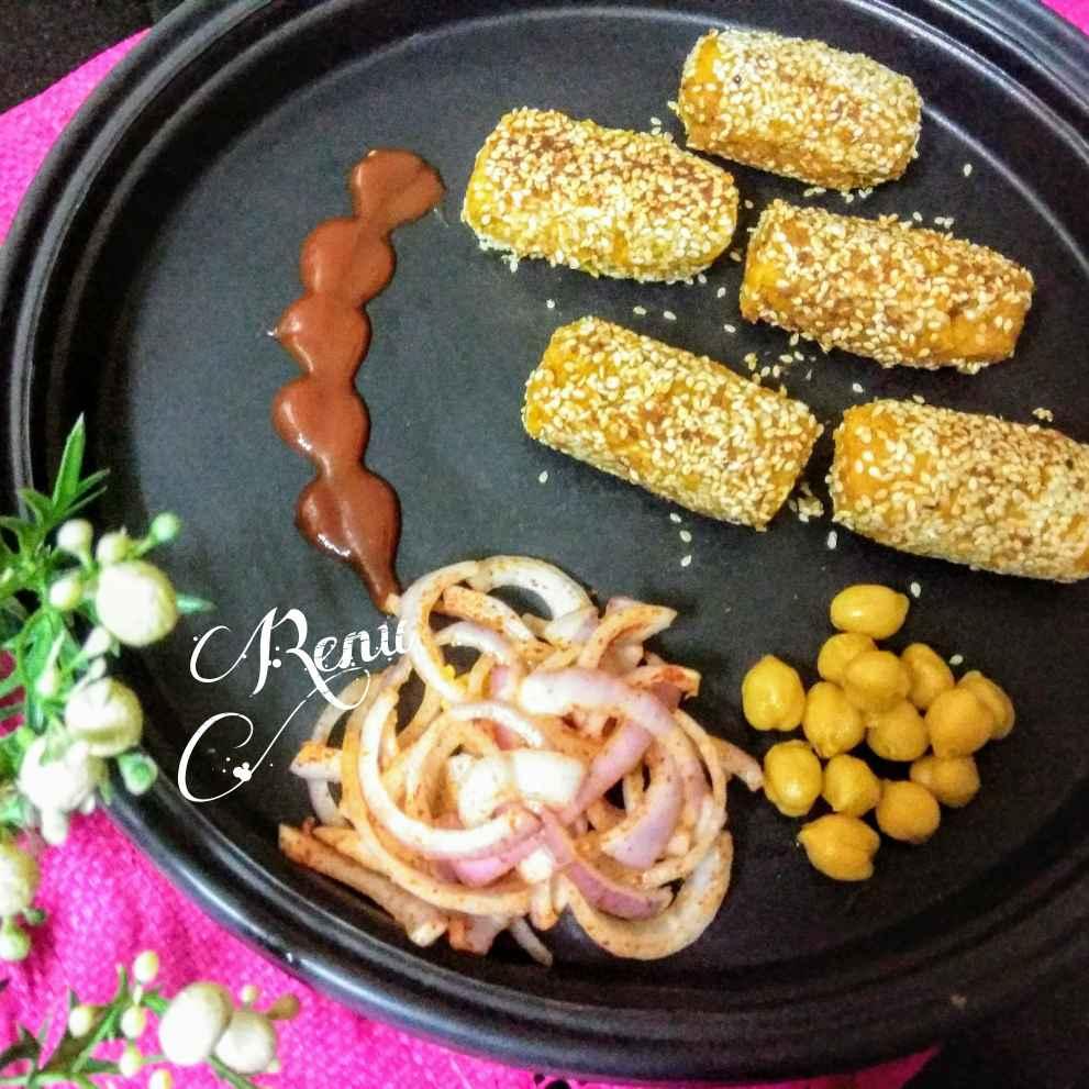 How to make चिकपी सेसमे कबाब