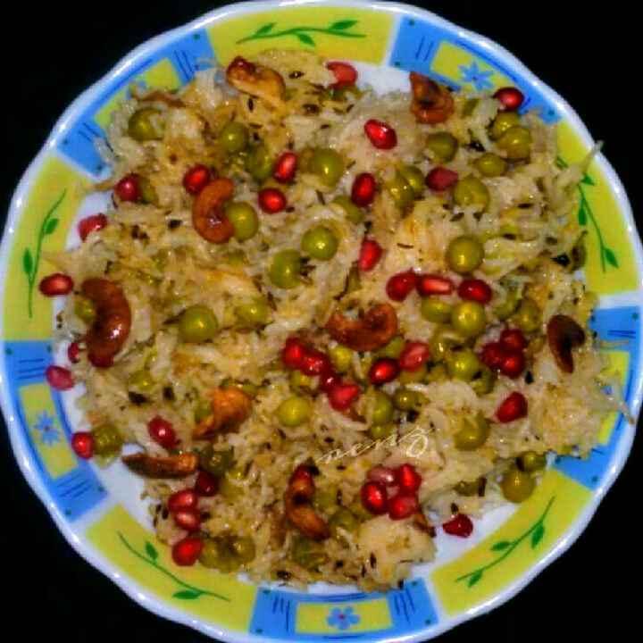 How to make मटर पुलाव