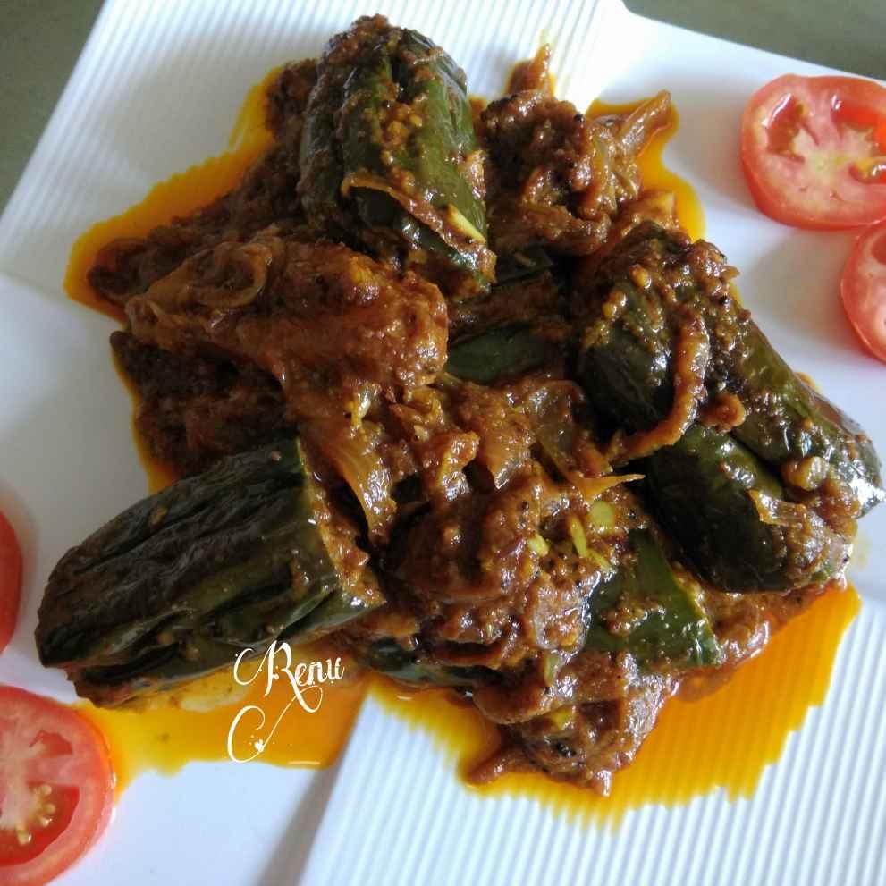Photo of Stuffed brinjal maharashtrian recipe by Renu Chandratre at BetterButter