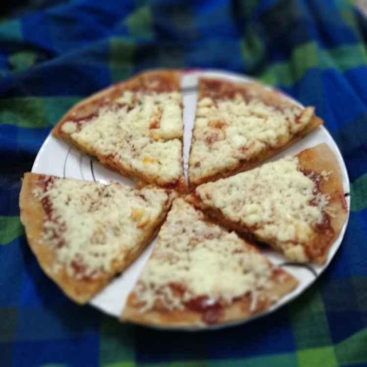How to make बटर रोटी पिज़्ज़ा