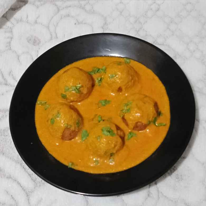How to make Paneer oats kofta in curd gravy