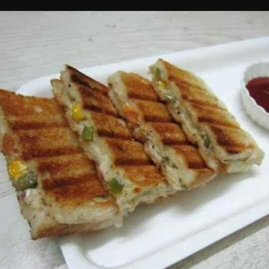 How to make Vegetable mayo grilled sandwiches