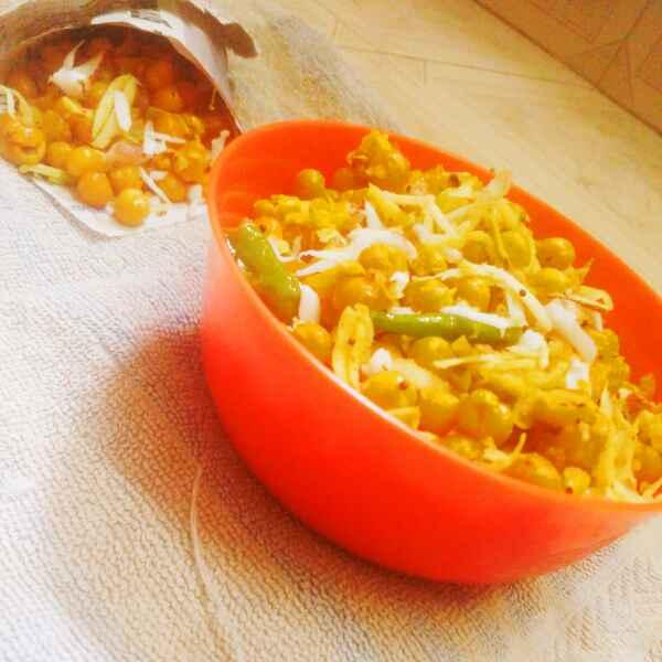 Photo of Cocount mango white peas sundal by Revathi Reva at BetterButter
