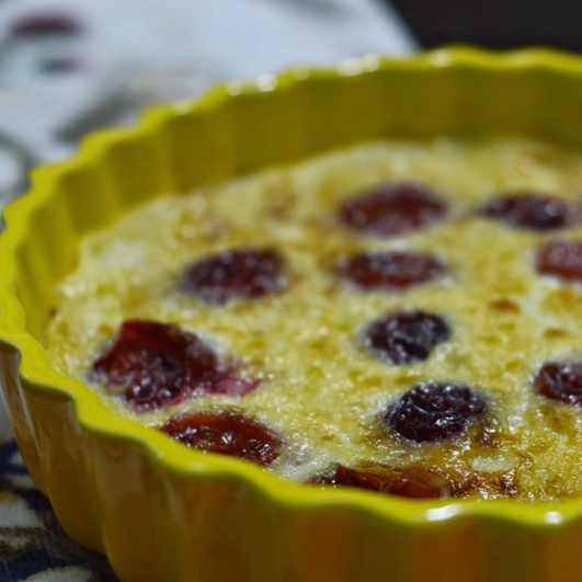Photo of Plum Clafoutis by Rhea Mitra-Dalal at BetterButter