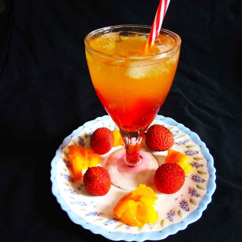 Photo of Lychee mango mocktail by Richa Mehrotra at BetterButter