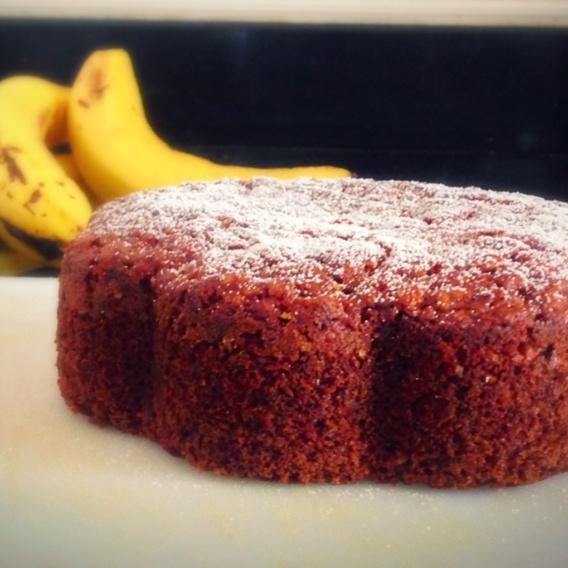 Photo of Wholewheat Eggless Oats Banana Cake by richa tiwari at BetterButter