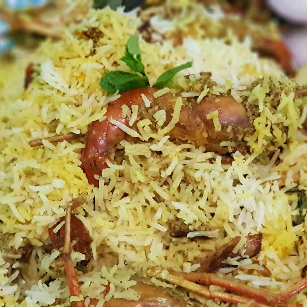 How to make Jumbo prawn biryani