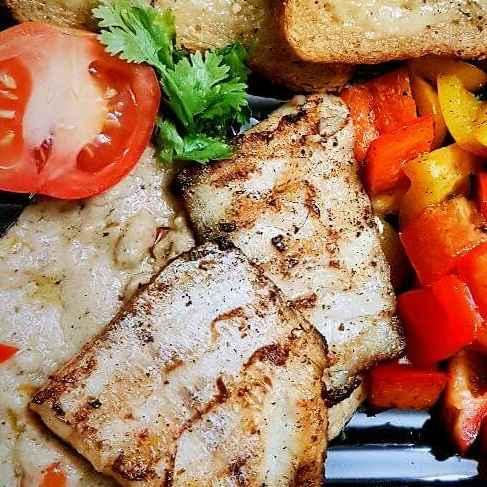 Photo of Grilled fish with white thik sauce by Rickta Dutta at BetterButter