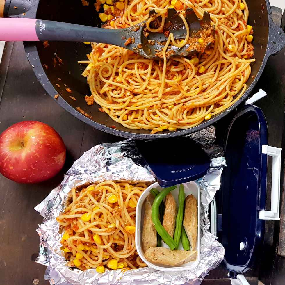 Photo of Red spaghetti with sausage by Rickta Dutta at BetterButter