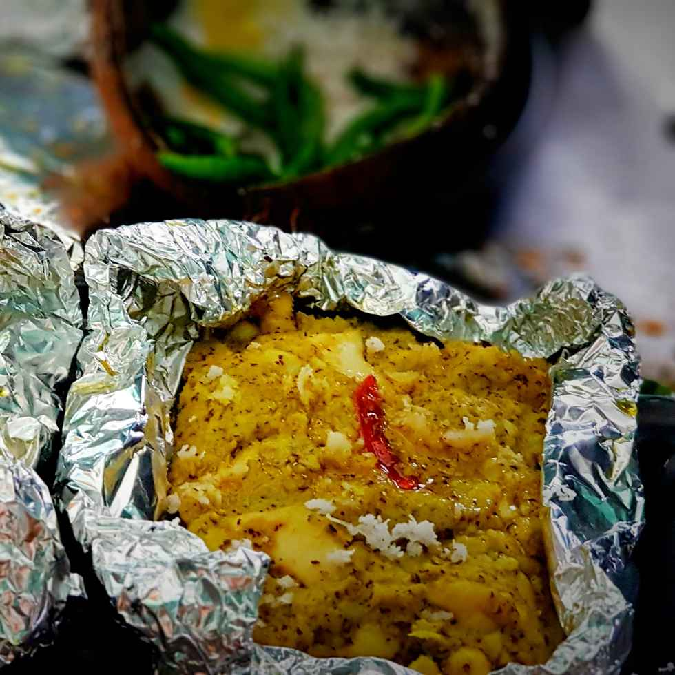 How to make Baked boiled egg / egg in foil