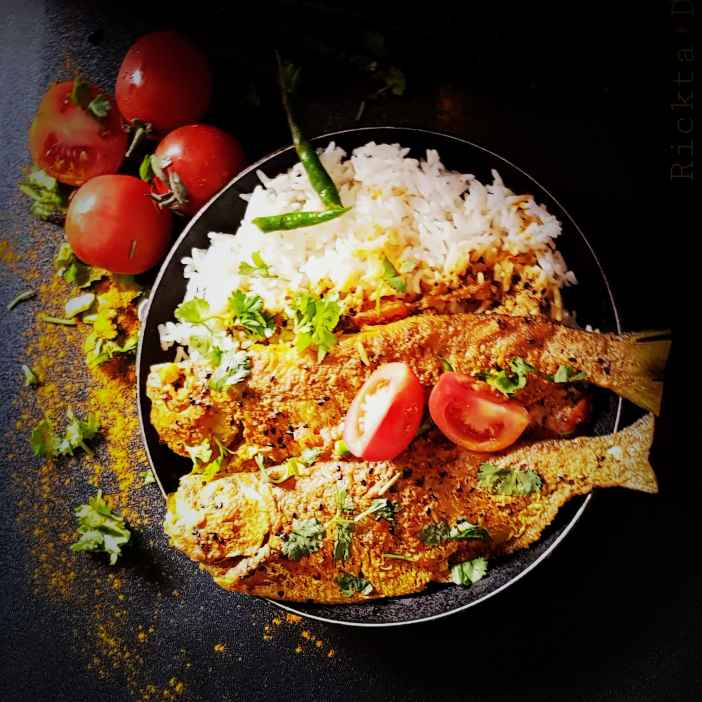 Photo of fish in spice Mustard sauce /  Macher Jhal by Rickta Dutta at BetterButter