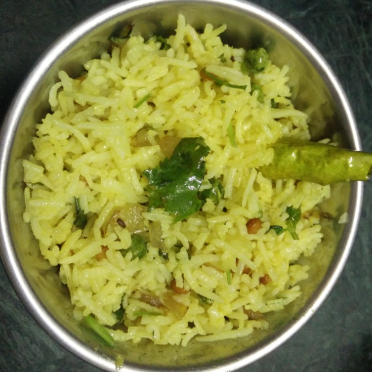 How to make Recipe of Yellow Rice by using Left over Rice