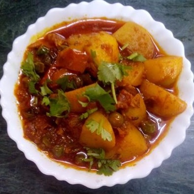 How to make Aloo Matar