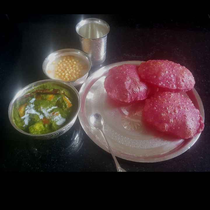 Photo of beetroot puri by MOUMITA DAS at BetterButter