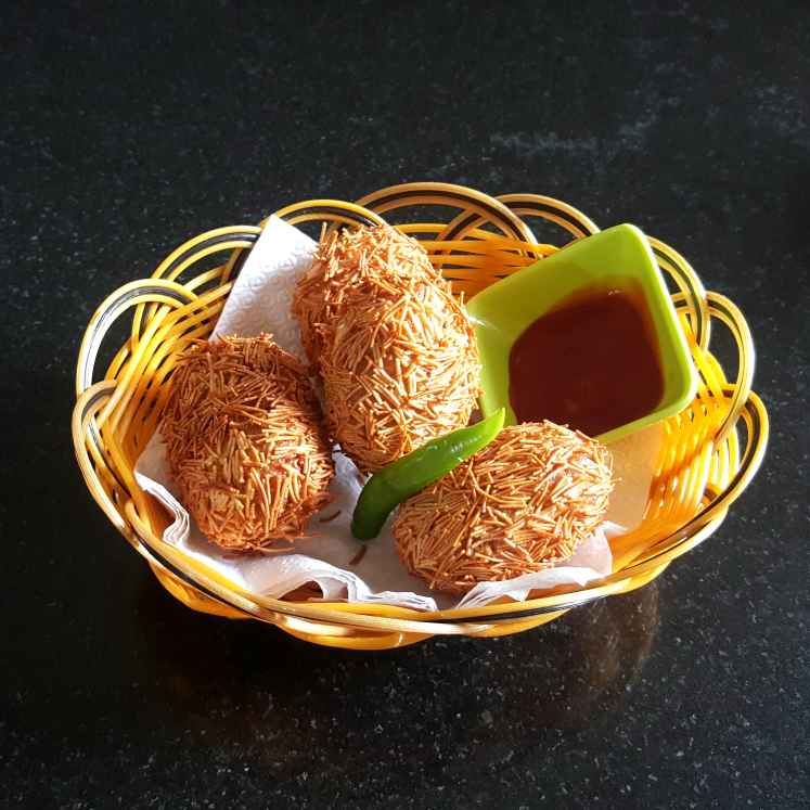 Photo of EGG COATED IN POTATO AND VERMICELLI by MOUMITA DAS at BetterButter