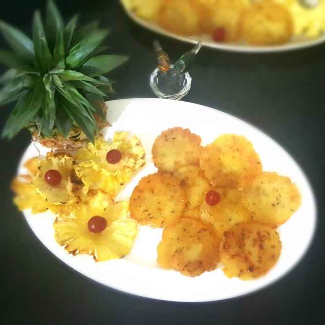 Photo of PINEAPPLE PANCAKE by MOUMITA DAS at BetterButter